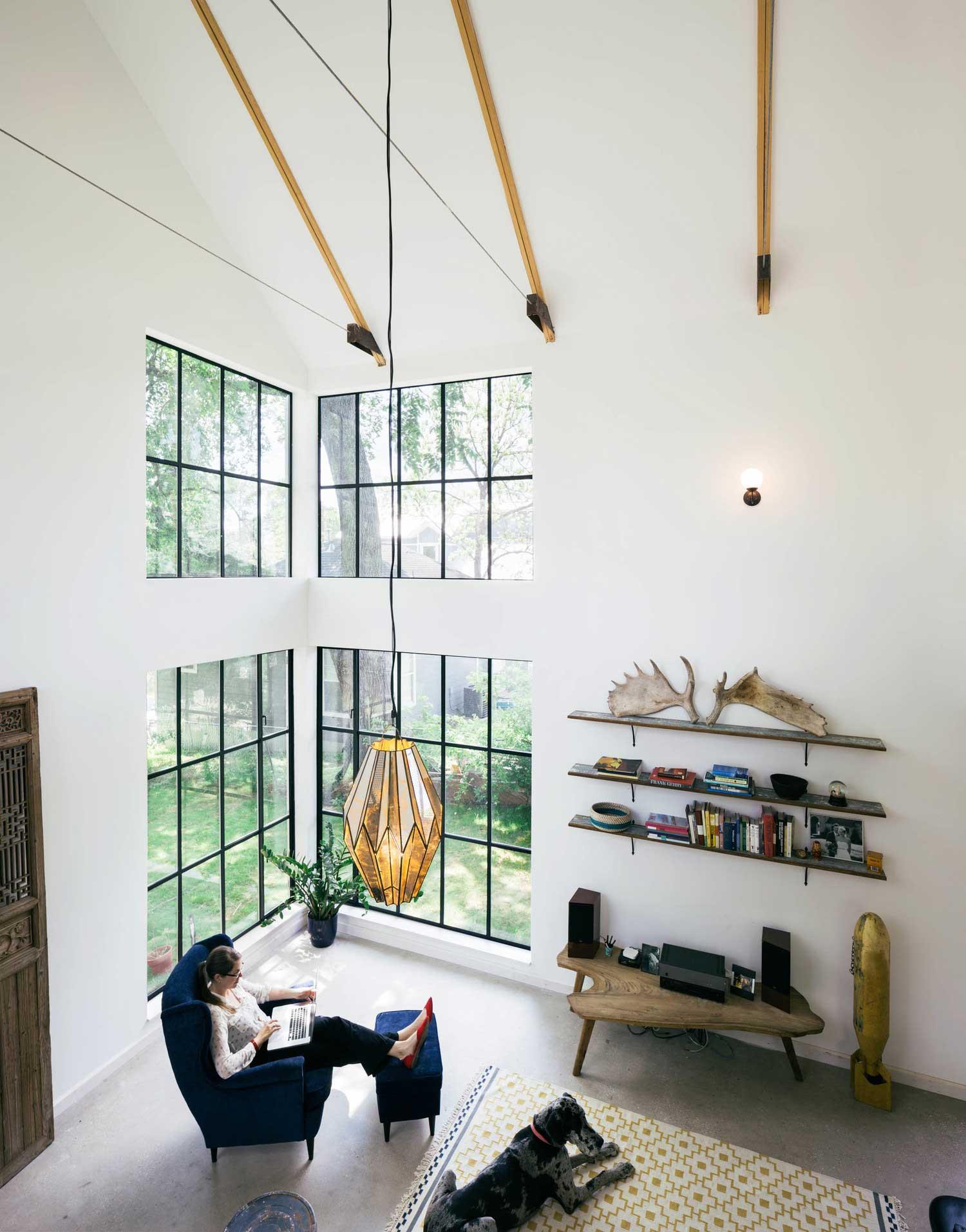 Maison fen tres style verri re d 39 atelier - Maison style atelier ...