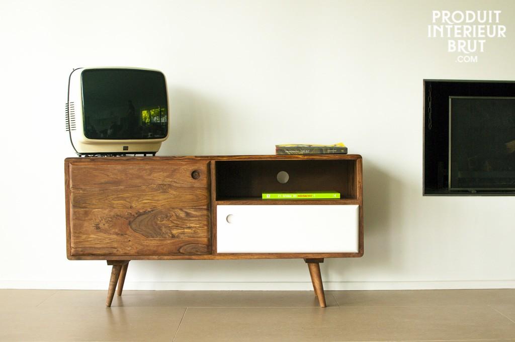 Meuble tv vintage for Produit interieur brut meubles