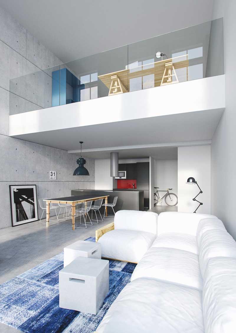 Loft créé avec un logiciel de 3D