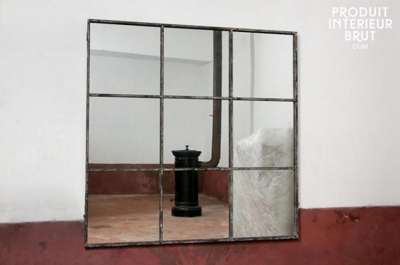 Miroir d'atelier esprit loft