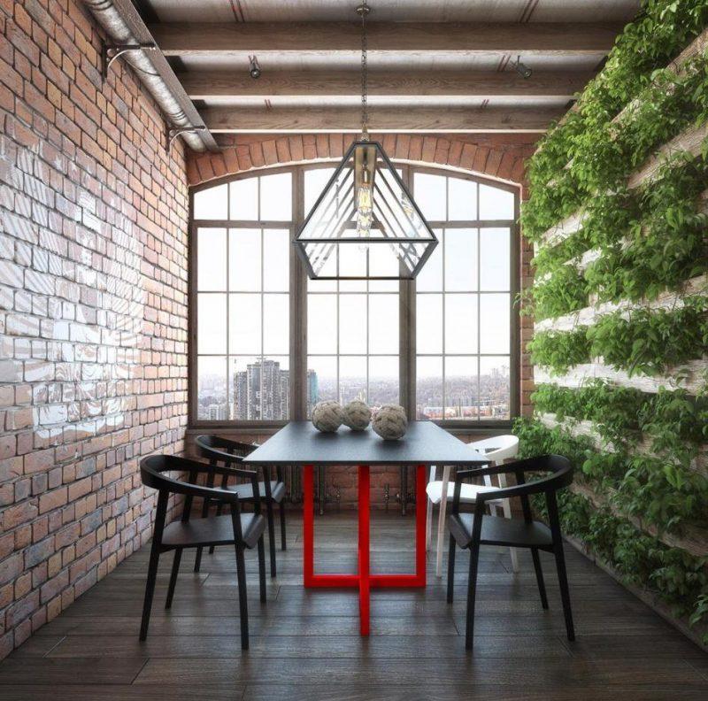 Mur végétal dans un loft