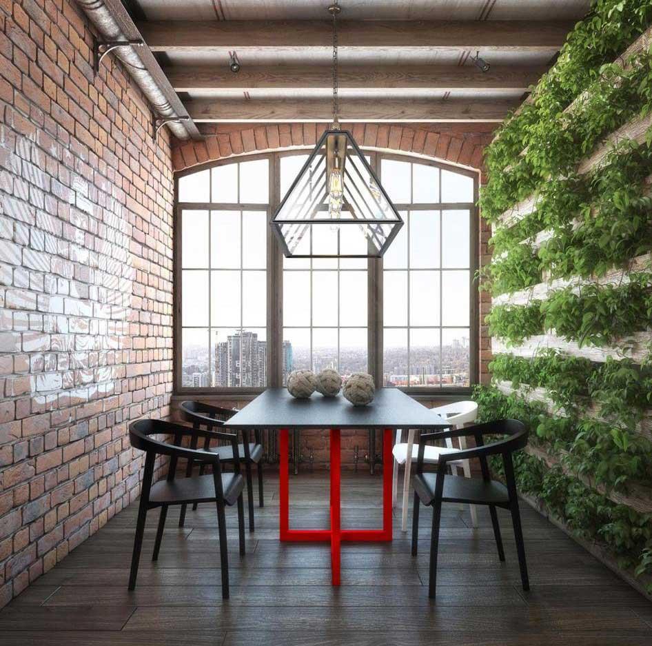 Mur v g tal dans un loft for Mur vegetal suspendu