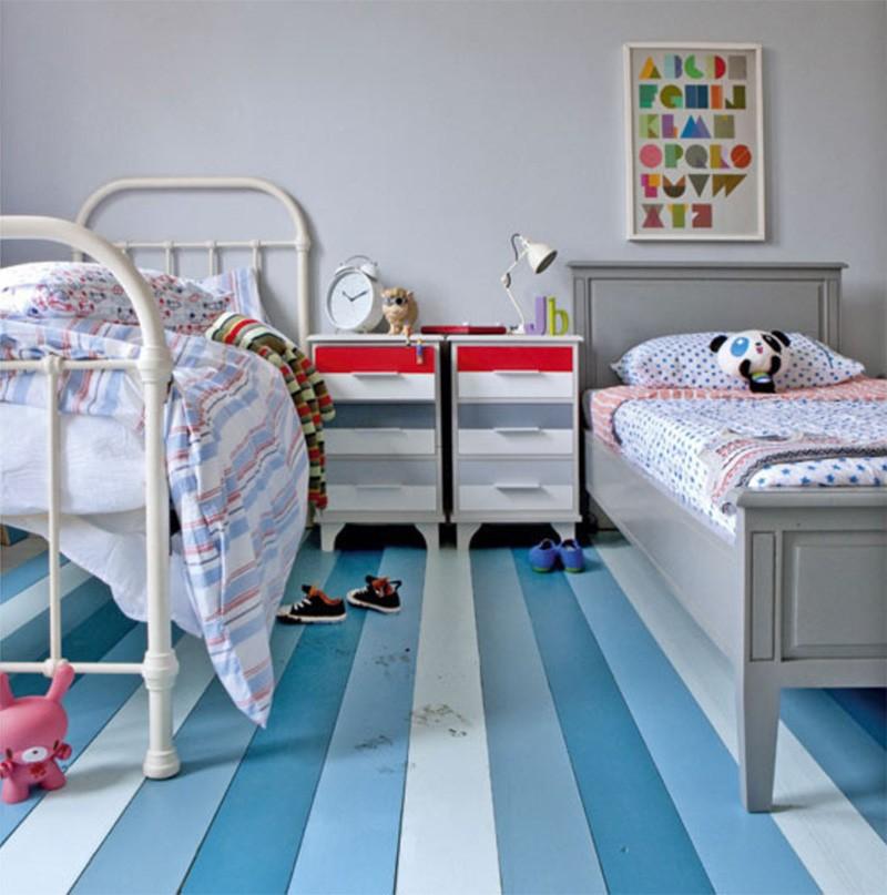 50 id es d co de parquet peint - Dormitorios infantiles mixtos ...