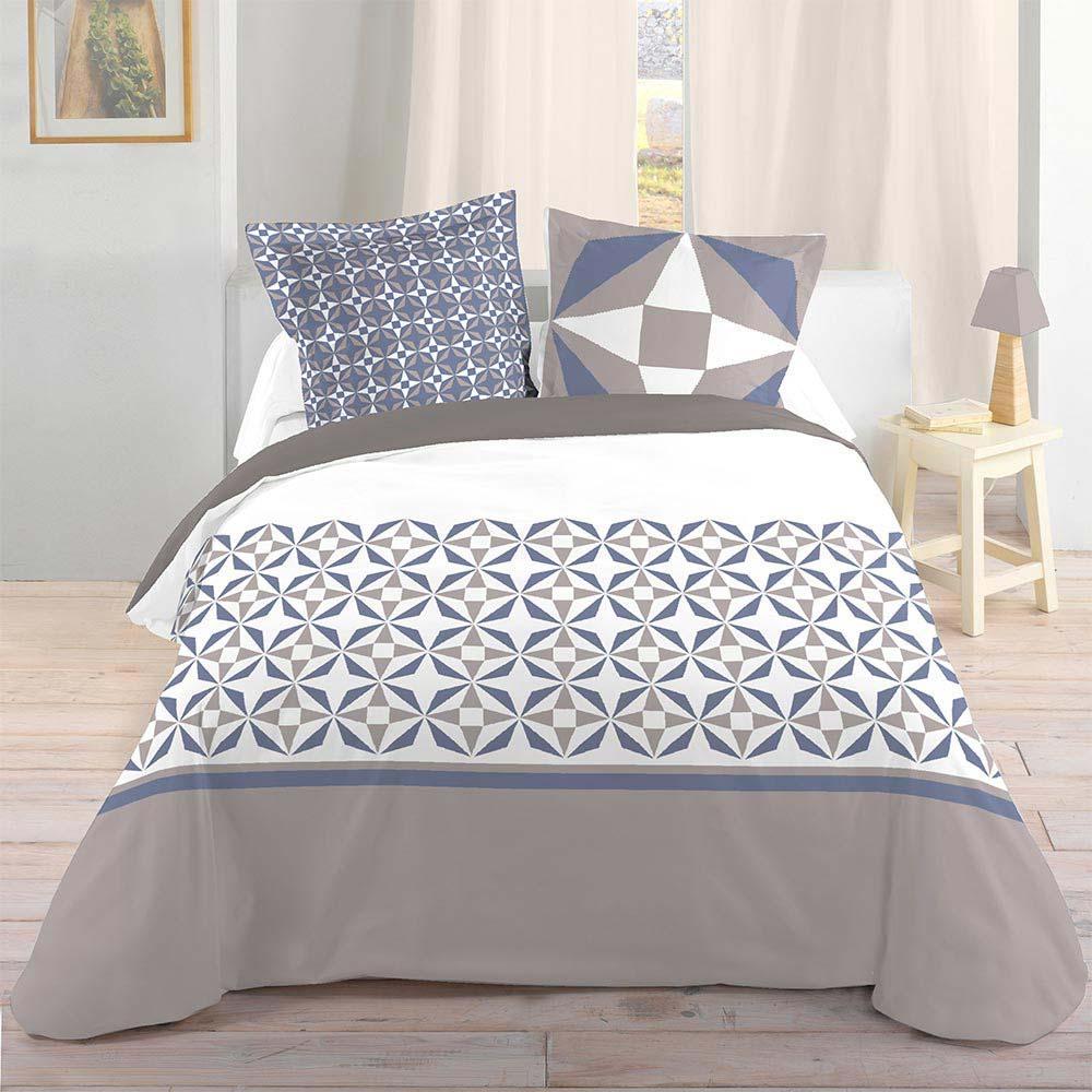 parure de lit d co carreaux de ciment. Black Bedroom Furniture Sets. Home Design Ideas