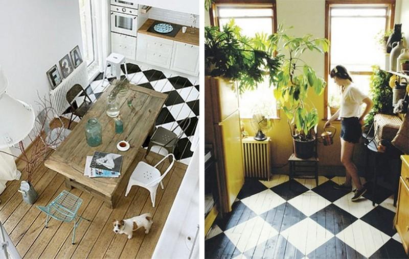 50 id es d co de parquet peint. Black Bedroom Furniture Sets. Home Design Ideas