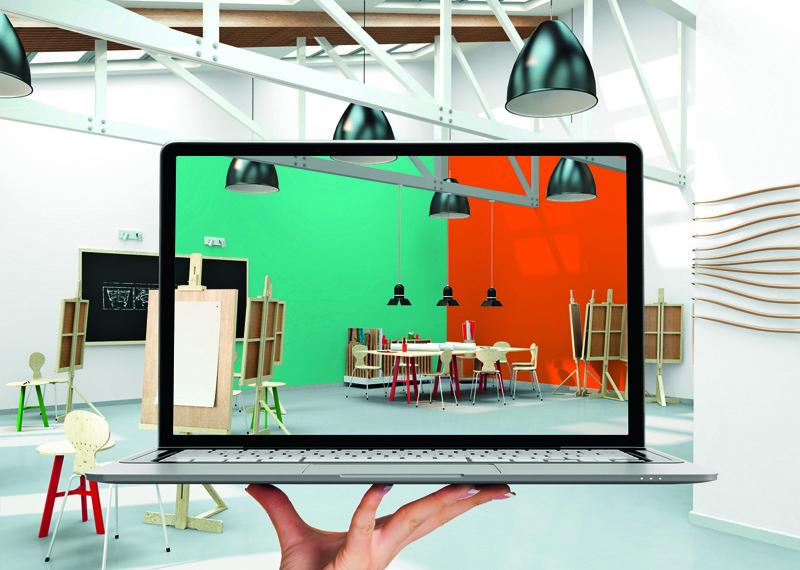 Simulation peinture dans un loft