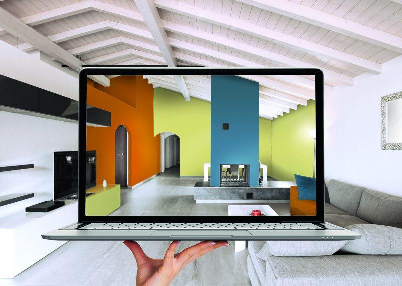 Simulation peinture dans un salon - Simulation peinture salon gratuit ...