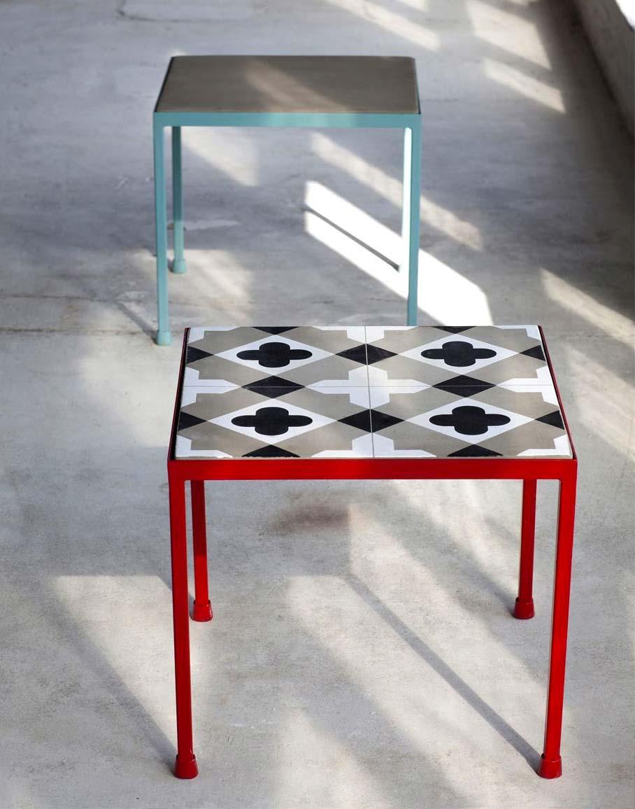 table basse carreau de ciment serax. Black Bedroom Furniture Sets. Home Design Ideas