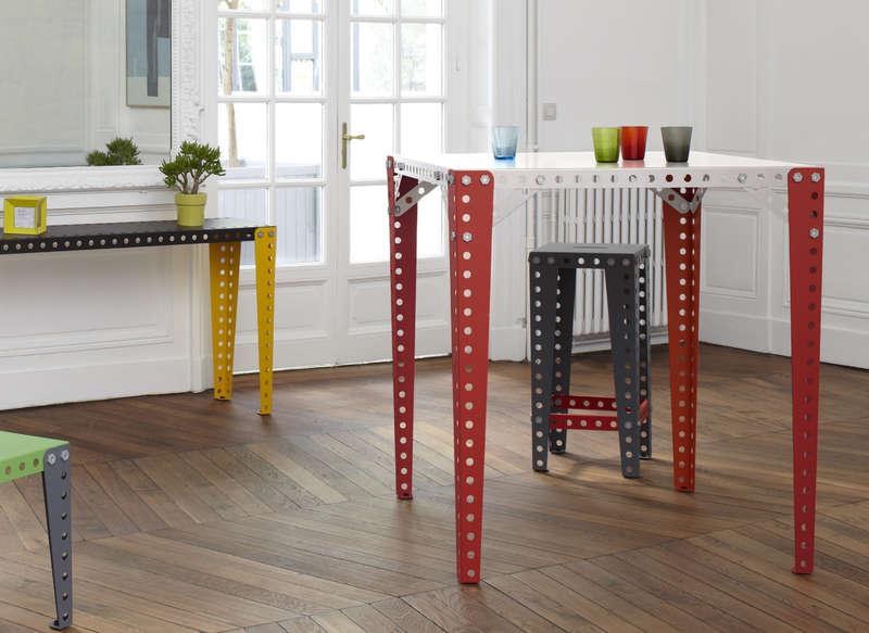 Table haute Meccano