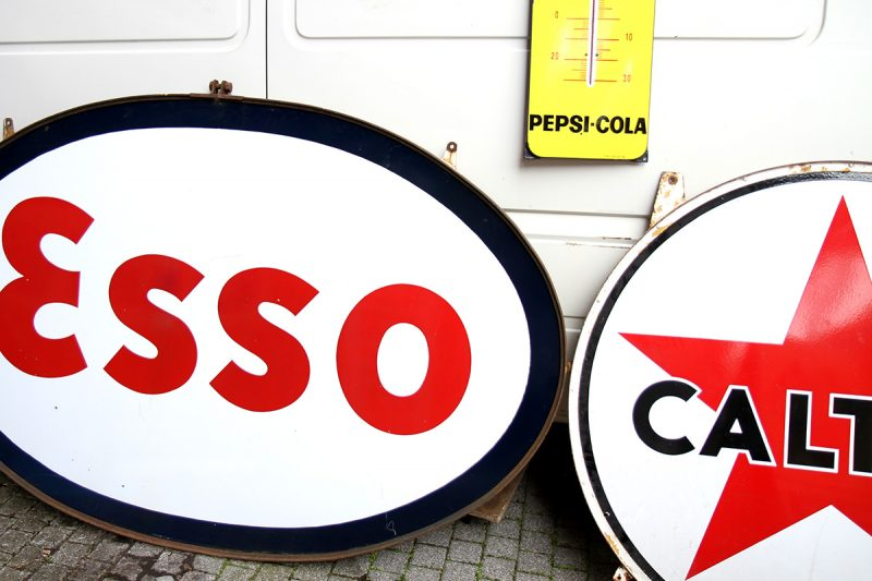 Enseigne Esso vintage
