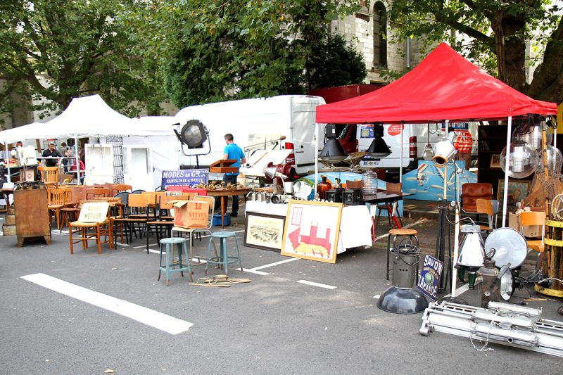 Stand de la braderie de Lille