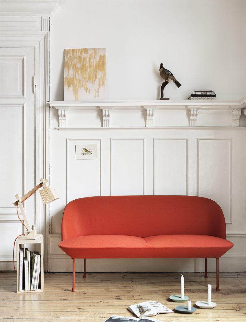 Sofa Oslo rouge Muuto