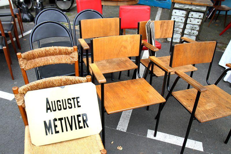 Chaise à la braderie de Lille