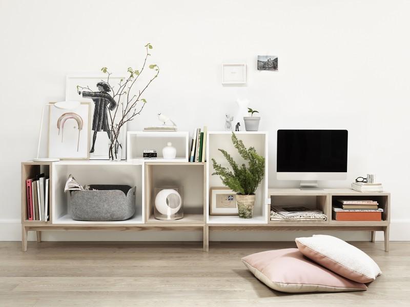 Meuble TV Muuto avec caissons