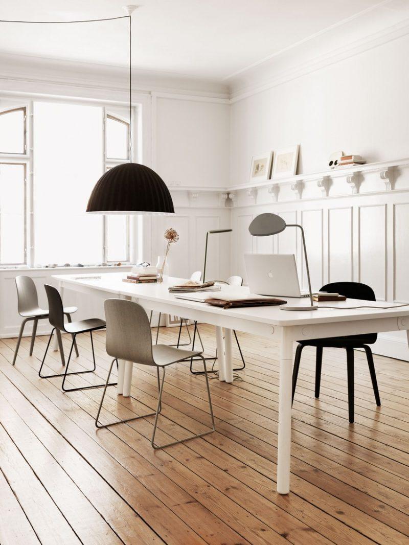 Espace de travail à la déco scandinave et moderne