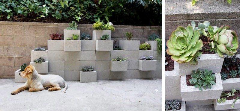 diy mur de plantes en parpaing faire soi m me. Black Bedroom Furniture Sets. Home Design Ideas