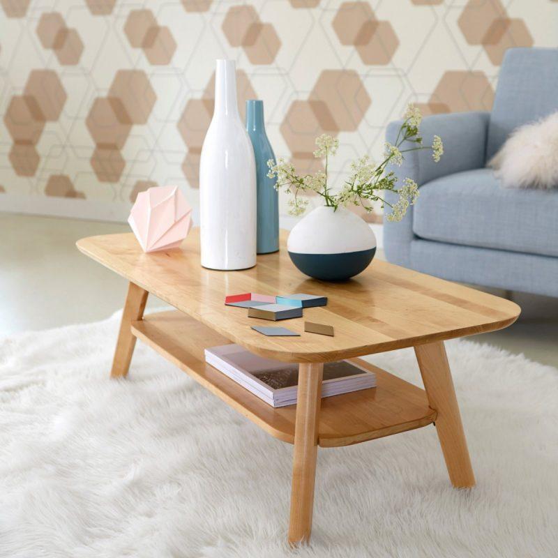 Table de salon en bois La Redoute Intérieurs