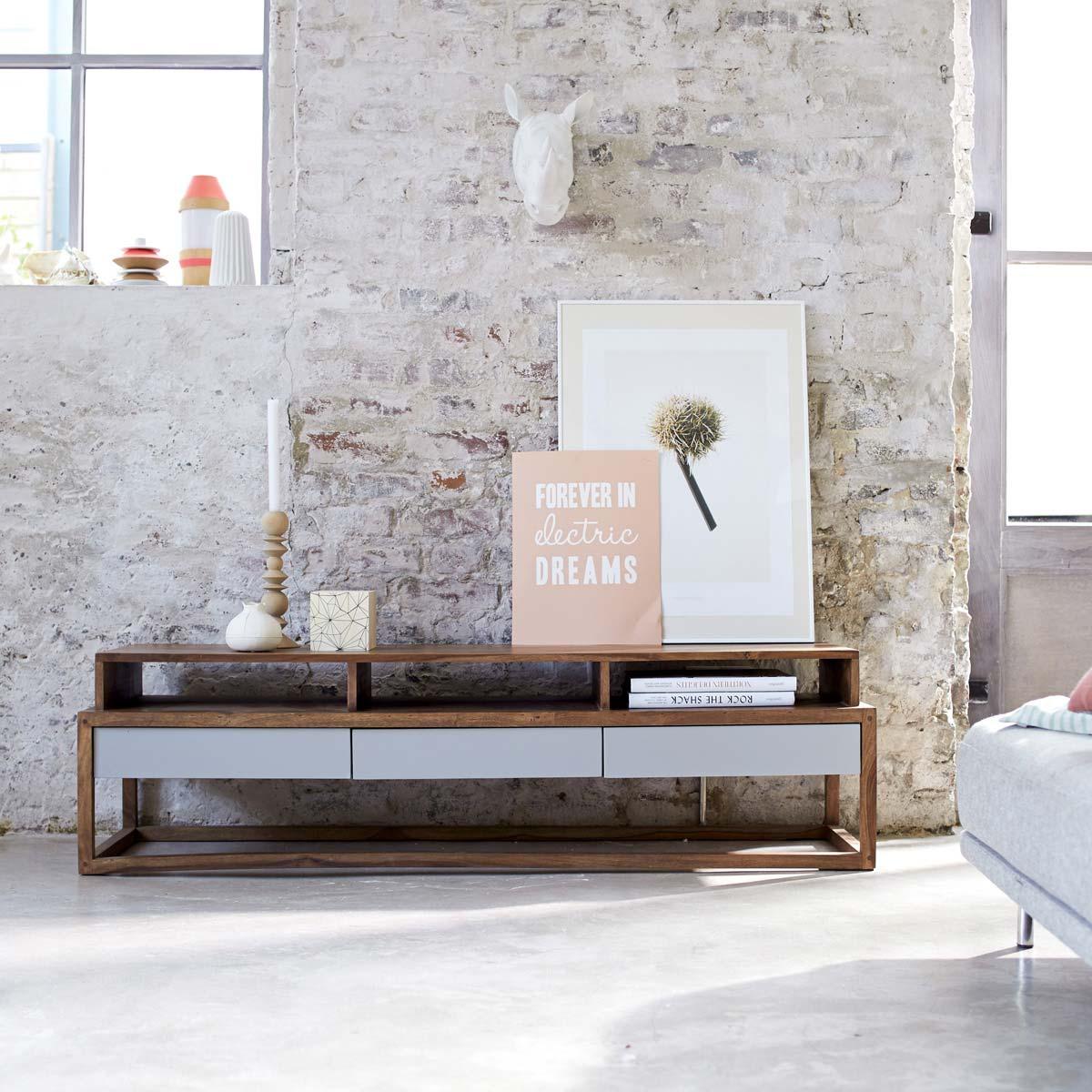 meuble tv en palissandre par tikamoon. Black Bedroom Furniture Sets. Home Design Ideas