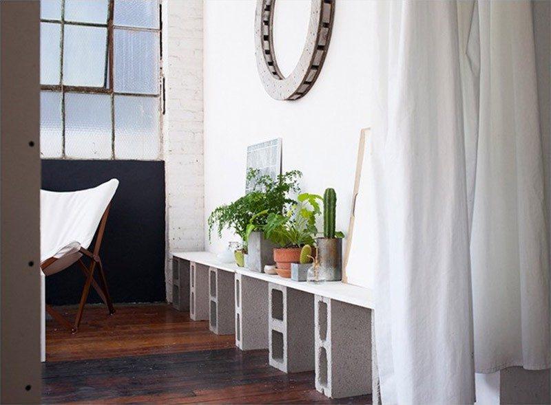d co avec des parpaings. Black Bedroom Furniture Sets. Home Design Ideas