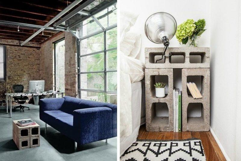 diy table de salon et table de chevet en parpaing. Black Bedroom Furniture Sets. Home Design Ideas