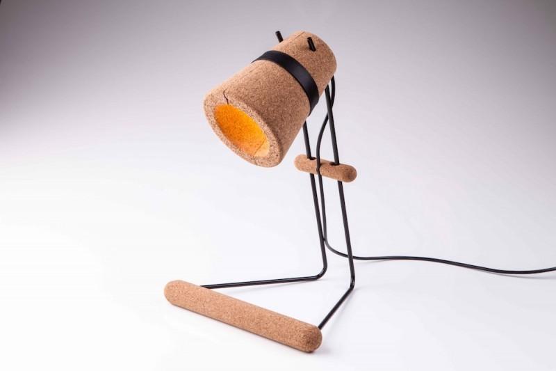 Lampe de bureau en liège
