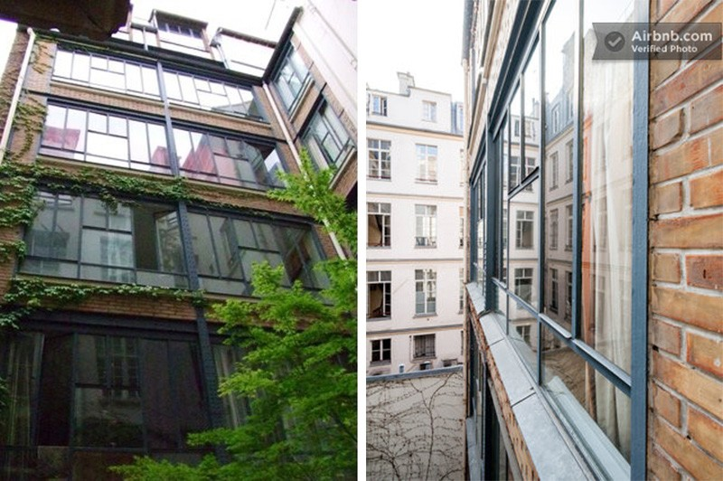 Batiment industriel transformé en loft à Paris