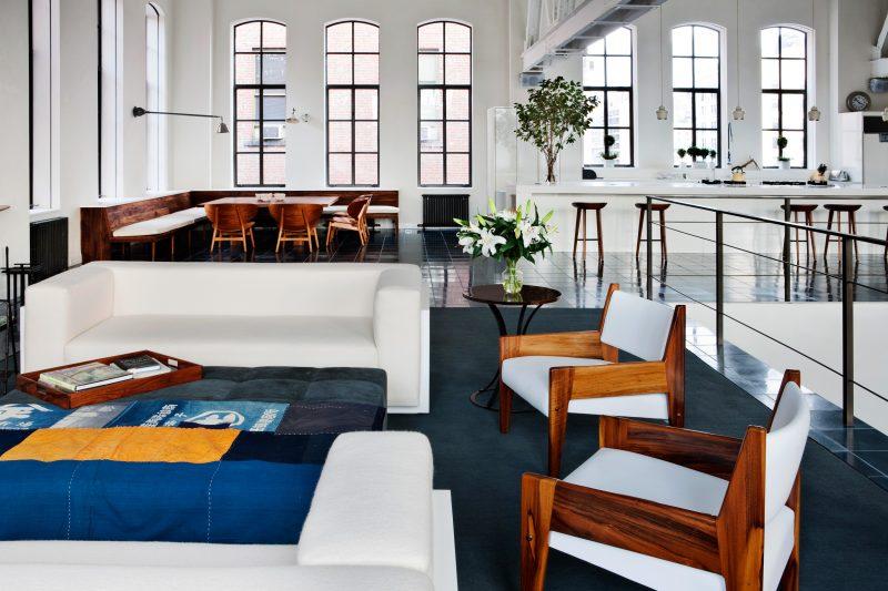 Salon du loft à New York