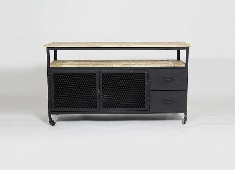 meuble tv indus par made in meubles. Black Bedroom Furniture Sets. Home Design Ideas
