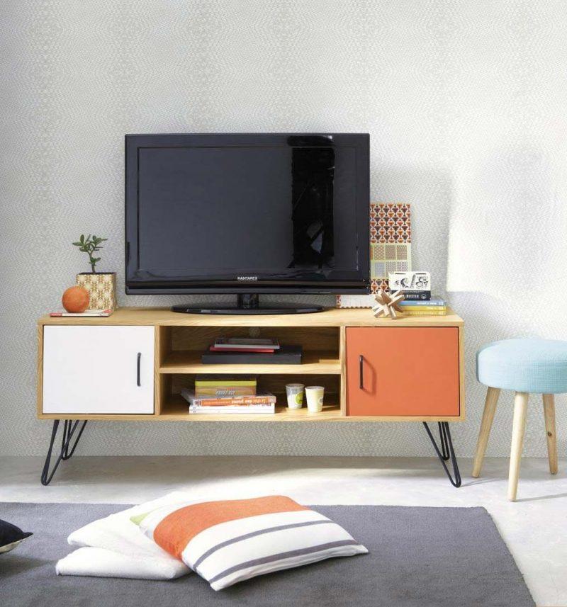 meuble tv bas vintage. Black Bedroom Furniture Sets. Home Design Ideas