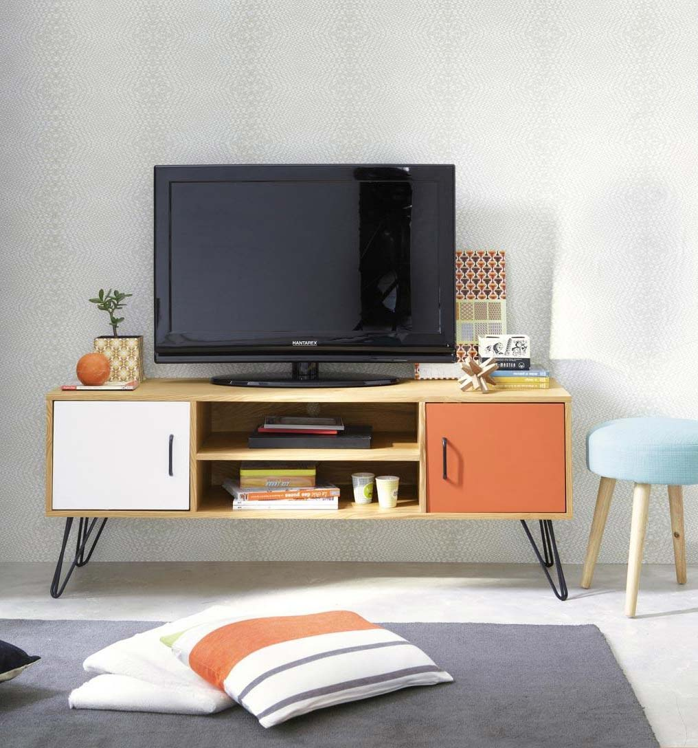 meuble tv bas vintage. Black Bedroom Furniture Sets. Home Design Ideas