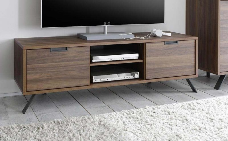 meuble tv moderne en bois. Black Bedroom Furniture Sets. Home Design Ideas