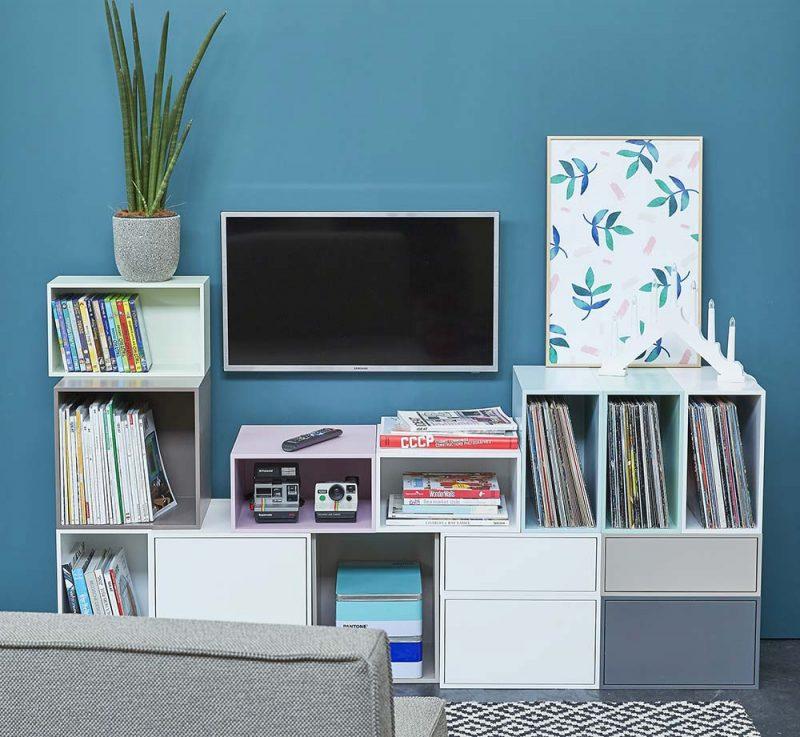 Meuble TV pastel par Cubit