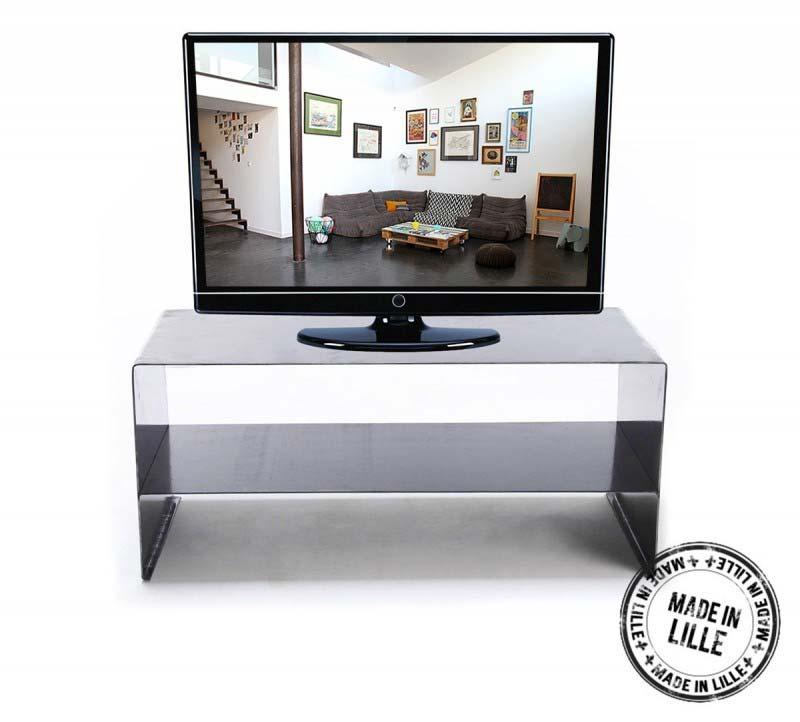 Meuble TV en acier fabriqué en France