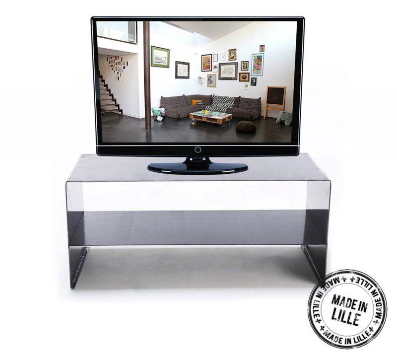 meuble tv en acier fabriqu en france. Black Bedroom Furniture Sets. Home Design Ideas