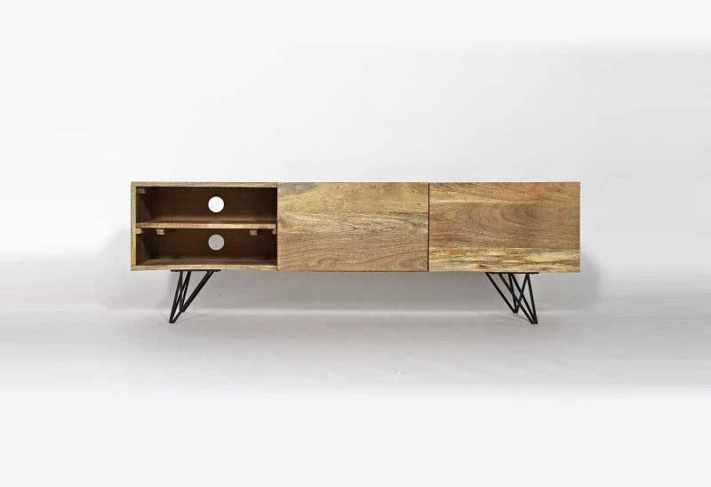Meuble TV épuré en bois