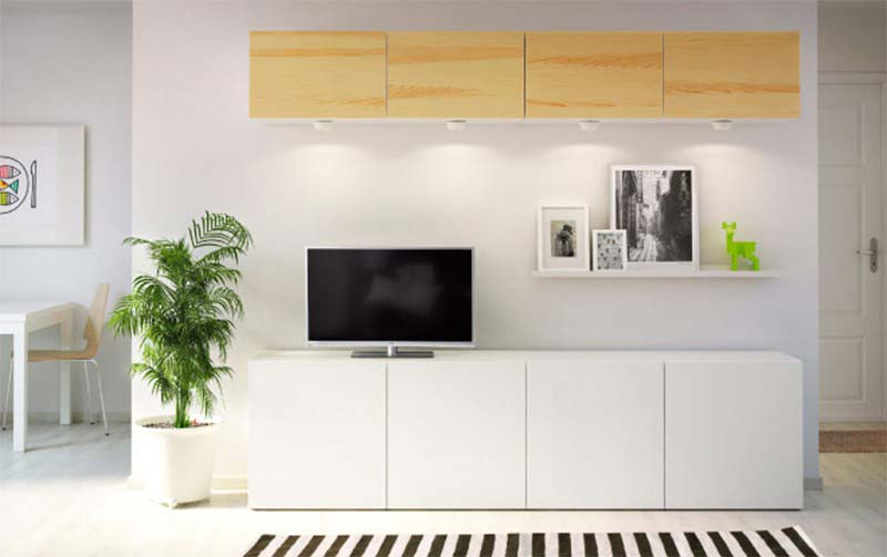 Meuble TV Ikea blanc