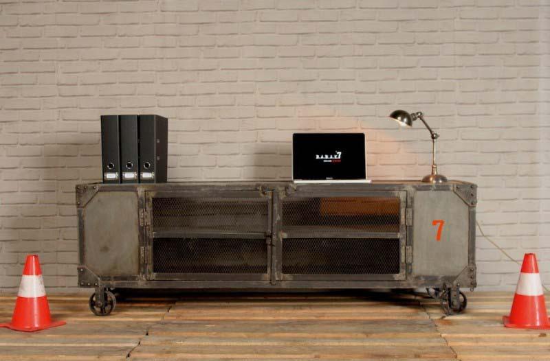 Meuble TV industriel Barak7
