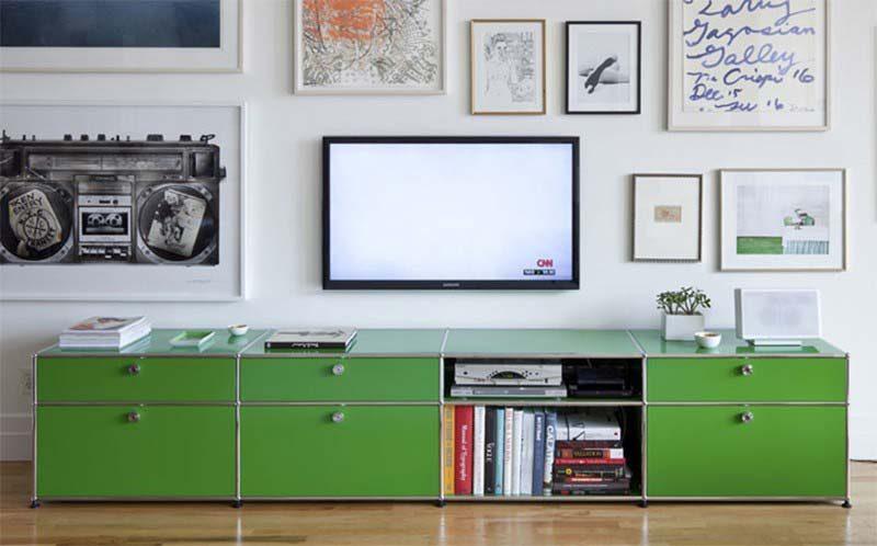 meuble tv usm vert. Black Bedroom Furniture Sets. Home Design Ideas