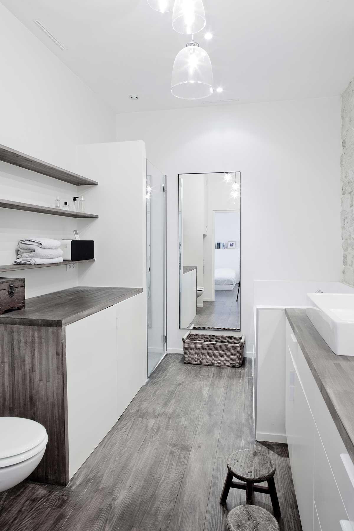 Salle de bains du loft for Acheter un loft a paris