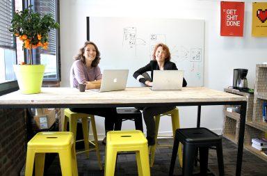 Isabelle Bully et Anne Debertonne, les fondatrices de What a nice place