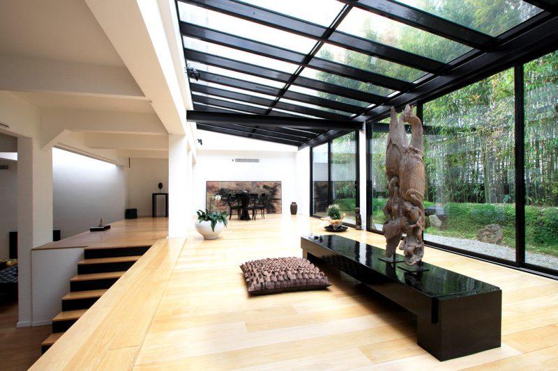 V randa noire moderne - Extension veranda moderne ...