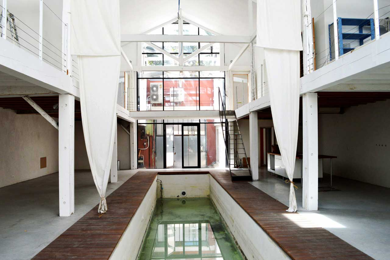 Couloir de nage avec plage en teck - Couloir de nage interieur ...