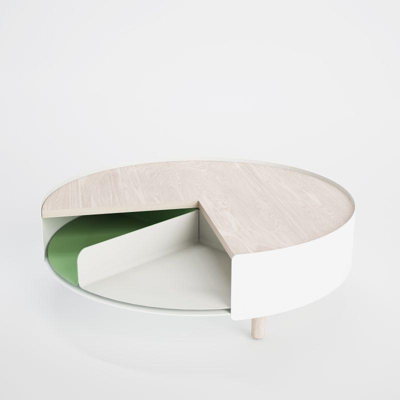 Table basse avec plateau tournant - Table avec plateau tournant ...