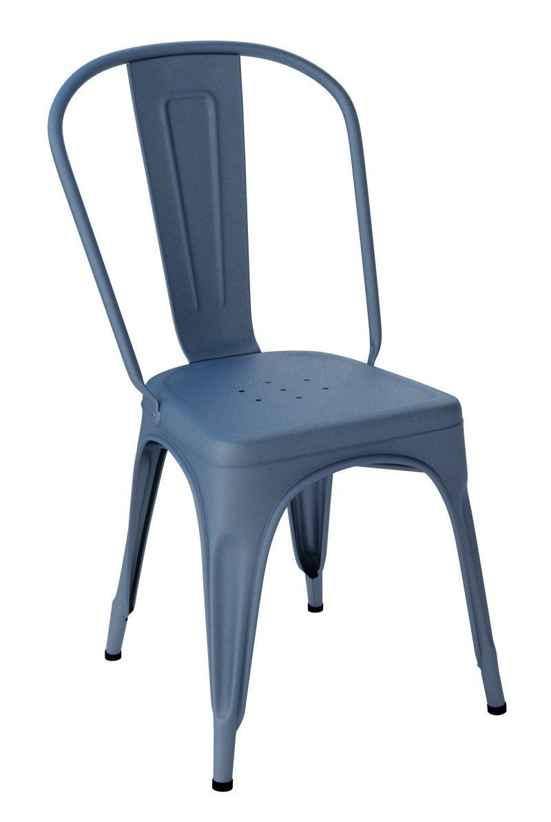 Chaise Tolix A Bleu Acier