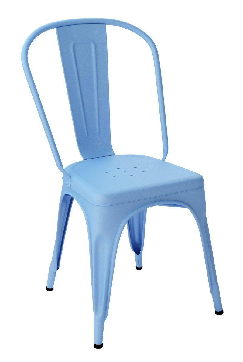 Chaise Tolix A Bleu Azure Texture