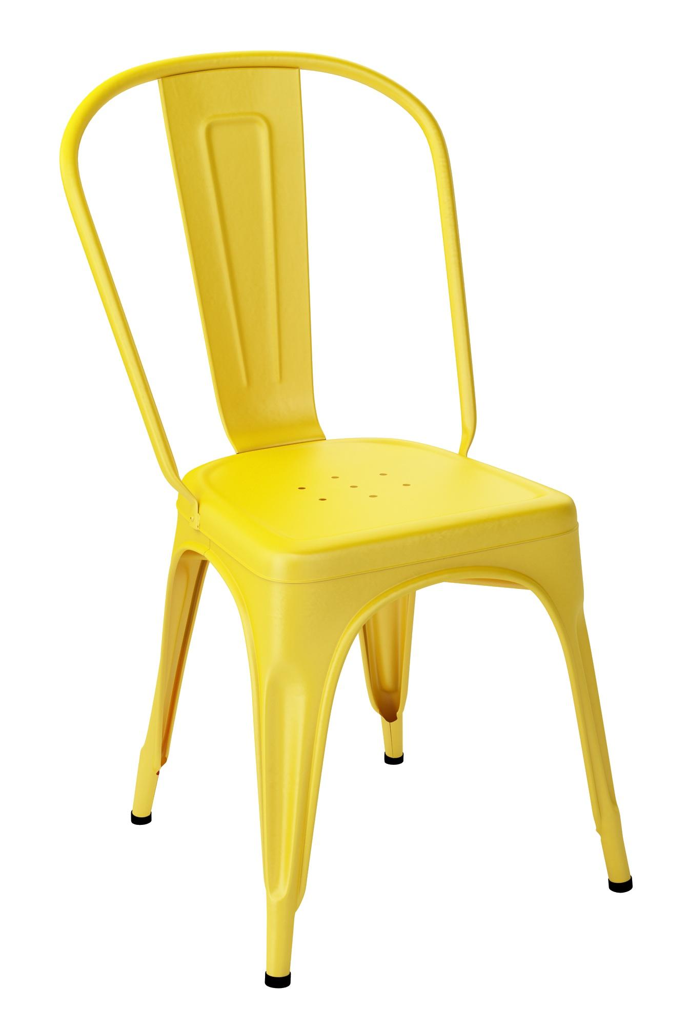 chaise tolix a jaune vif. Black Bedroom Furniture Sets. Home Design Ideas