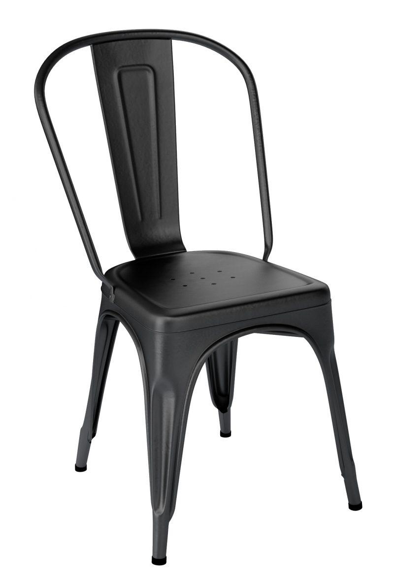 Chaise Tolix A Noir Mat