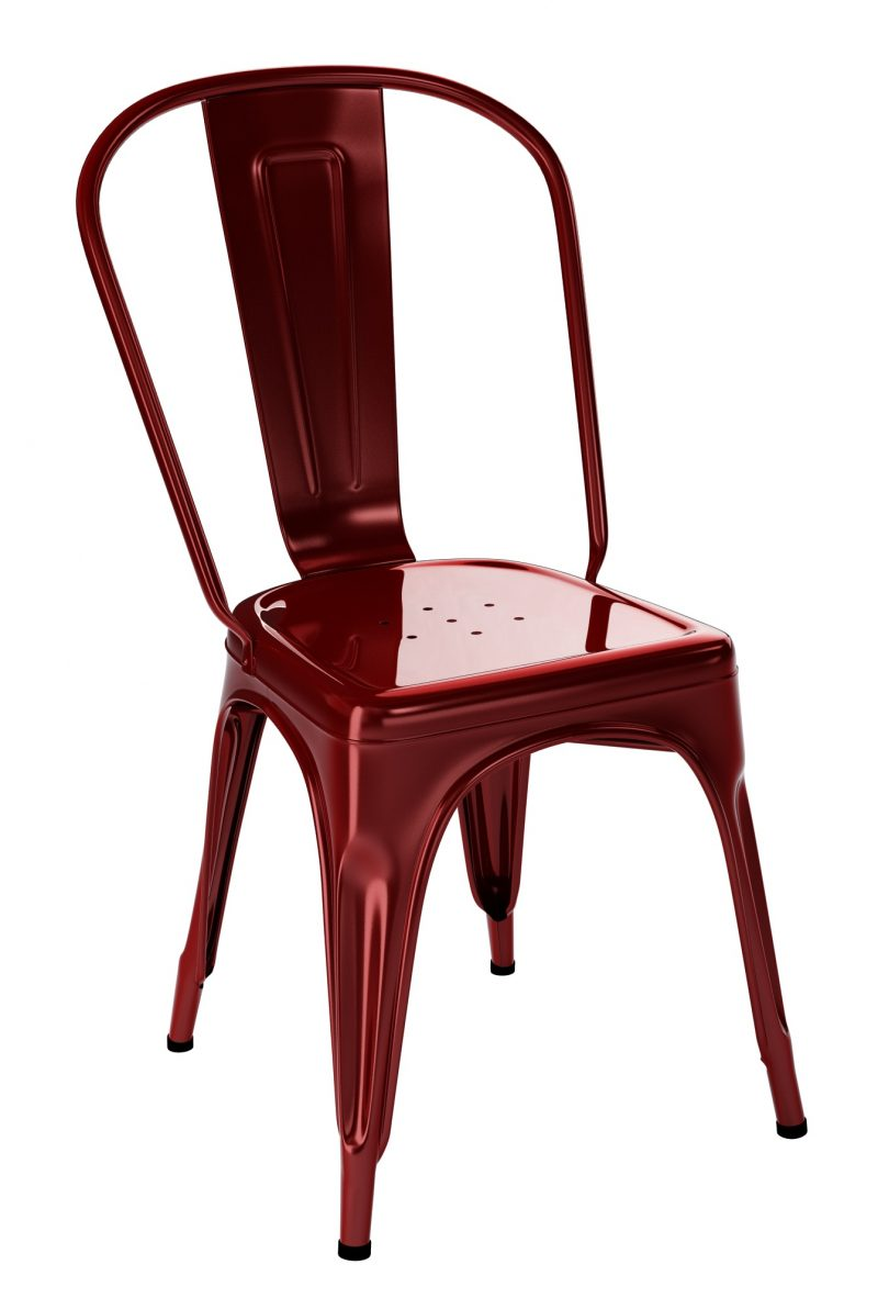 Chaise Tolix A Rouge Glacis