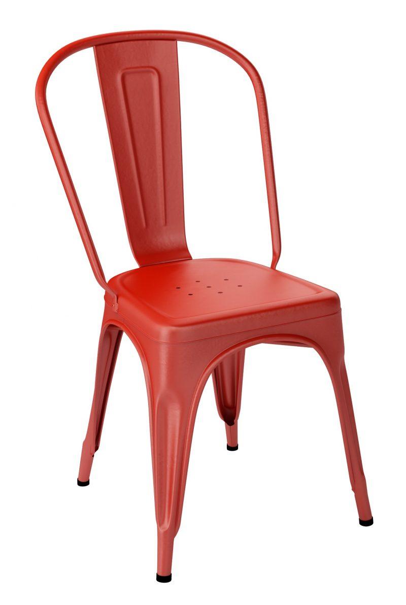 Chaise Tolix A Rouge Vermillon