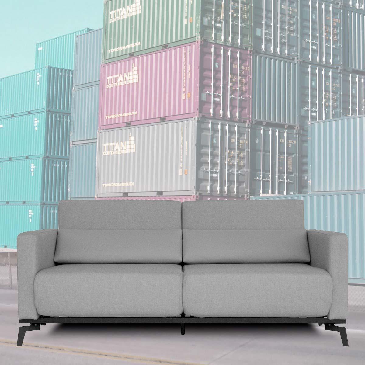 canap convertible design gris. Black Bedroom Furniture Sets. Home Design Ideas